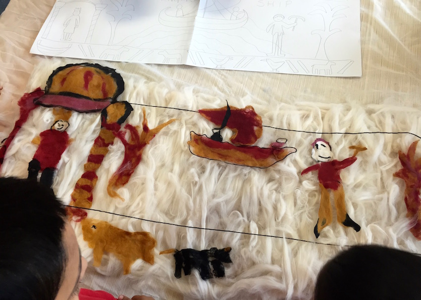 Bayeux Tapestry Felted Panel