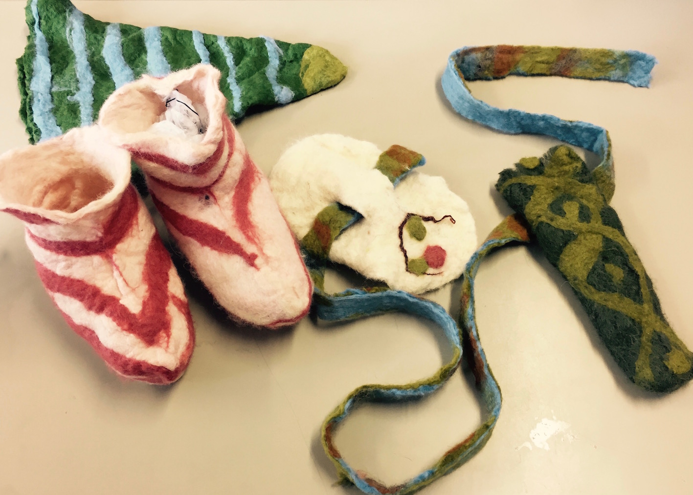 Felt Anglo Saxon clothes Ursula Hurst