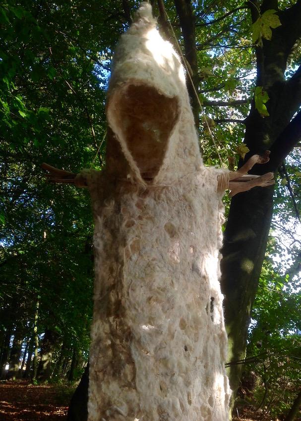 Felt Monk Sculpture Ursula Hurst
